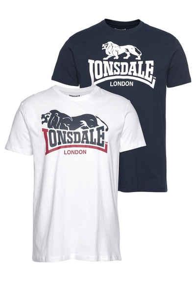 Lonsdale T-Shirt »LOSCOE« (Packung, 2-tlg., 2er-Pack)