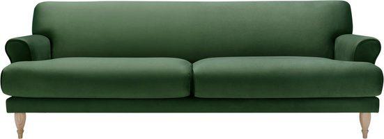 LOVI Sofa »Ginger«, 3-Sitzer, Füße Eiche natur, Sitzunterfederung mit Dynaflex Polsterunterlage, Hightech-Gewebe mit hoher Dimensionsstabilität
