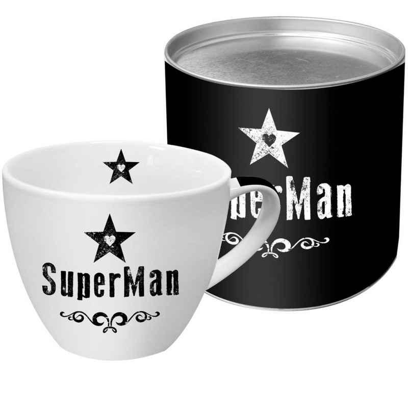 PPD Tasse »SuperMan Black 450 ml«, New Bone China