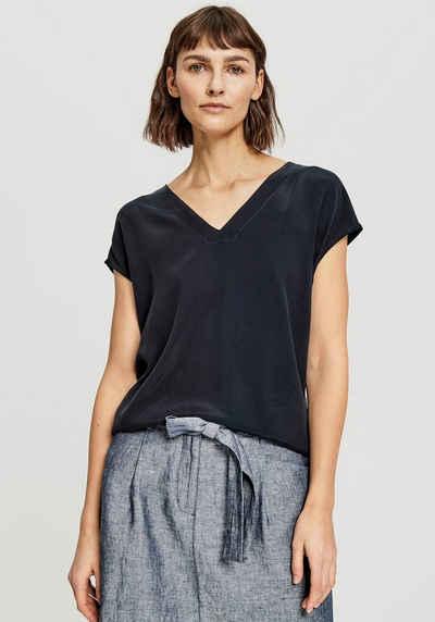 OPUS T-Shirt »Silvia soft« aus hochwertigem Materialmix