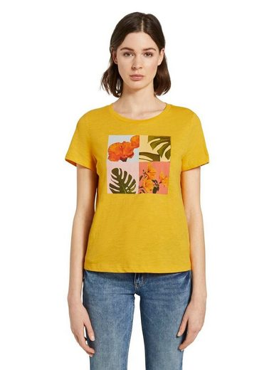 TOM TAILOR T-Shirt mit Blumen-Print