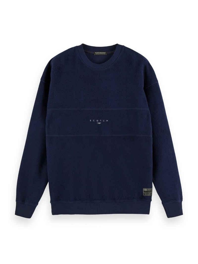 Scotch & Soda Sweatshirt »Gerautes Felpa-Sweatshirt in Bahnenoptik« (1-tlg)