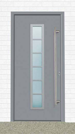 KM MEETH ZAUN GMBH Aluminium-Haustür »A04«, BxH: 98x208 cm, grau, in 2 Varianten