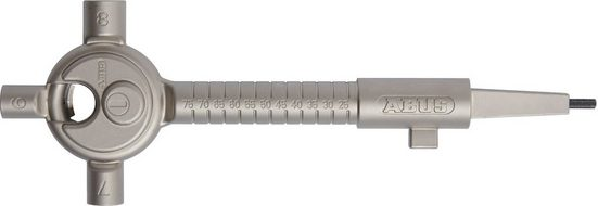 ABUS Multifunktionswerkzeug »Universal SB«, Bauschlüssel mit Vierkant, Schließbart