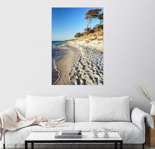 Posterlounge Wandbild, Premium-Poster Ostseestrand auf dem Darß