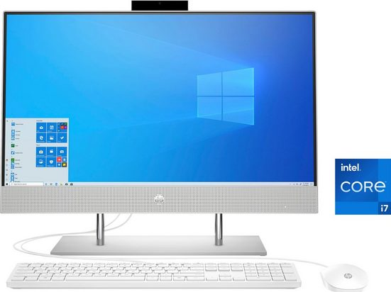HP 24-dp1002ng All-in-One PC (23,8 Zoll Intel Core i7 1165G7, Iris® Xe Graphics, 8 GB RAM, 1000 GB SSD, Luftkühlung)
