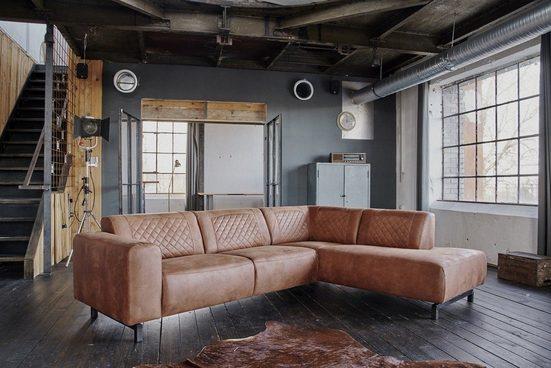 KAWOLA Sofa »AVILLO«, Ecksofa Kentucky Cognac Recamiere links o. rechts