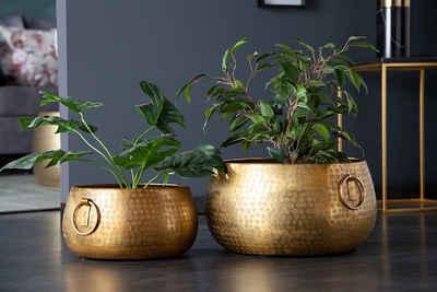 riess-ambiente Dekoschale »ORIENT gold« (2er Set, 2 Stück), Dekoration · Metall · Handarbeit