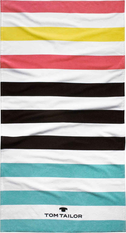 TOM TAILOR Strandtuch »Kairo« (1-St), mit tollen Streifen