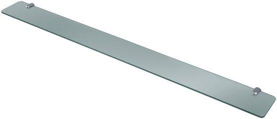 welltime Ablageregal »Glasregal/ Glasablage«, Breite 100 cm, mit Klarglasboden