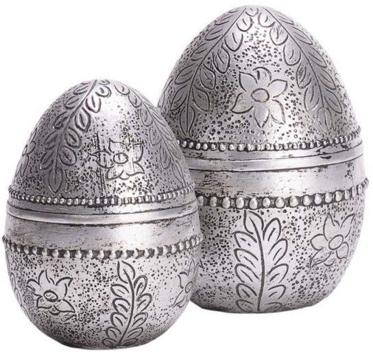 Osterei (Set, 2 Stück), mit liebevoll gestalteter Ornamentik