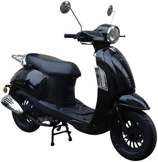 GT UNION Motorroller »Massimo«, 50 ccm, 45 km/h, Euro 4, glanzschwarz