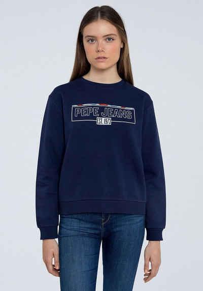 Pepe Jeans Sweater »BETSY« mit aufgesticktem Marken-Namen im Brustbereich