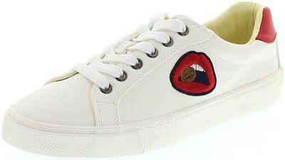 Wrangler »PEGGY Damen Low-Top Sneaker Weiss« Sneaker