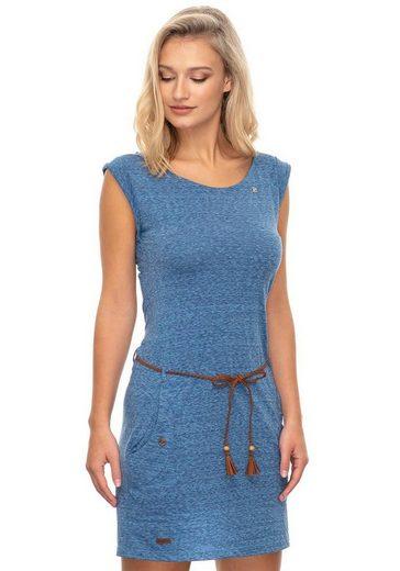Ragwear Jerseykleid »TAG« (mit abnehmbarem Gürtel) in melierter Optik