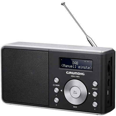 Grundig »Music 6000 DAB+« Digitalradio (DAB) (DAB/DAB+, UKW, PLL - Frequenz - Synthesizer - Abstimmung, Radio Daten System RDS, RDS -Radiotext, LC-Display, Netz- & Akku-Betrieb)