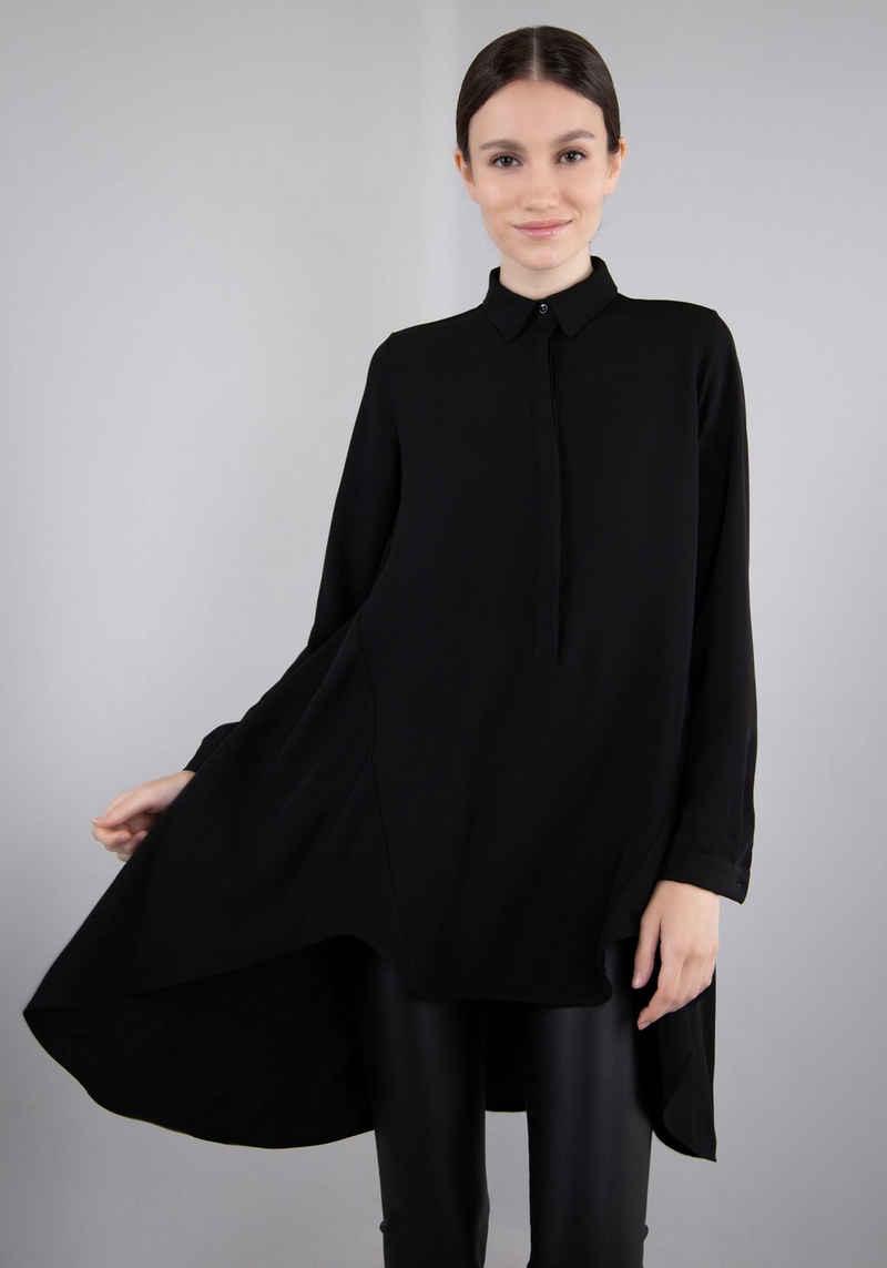 IMPERIAL Klassische Bluse »IMP-C ED3BEW« fliessende Vokohila Longbluse