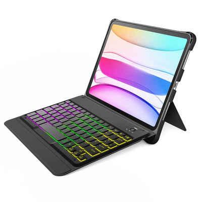 Inateck »Tastatur Hülle für iPad Air 4 2020/iPad Pro 11 Zoll 2021/2020/2018, abnehmbare Tastatur mit DIY Hintergrundbeleuchtung, QWERTZ« iPad-Tastatur (abnehmbar)