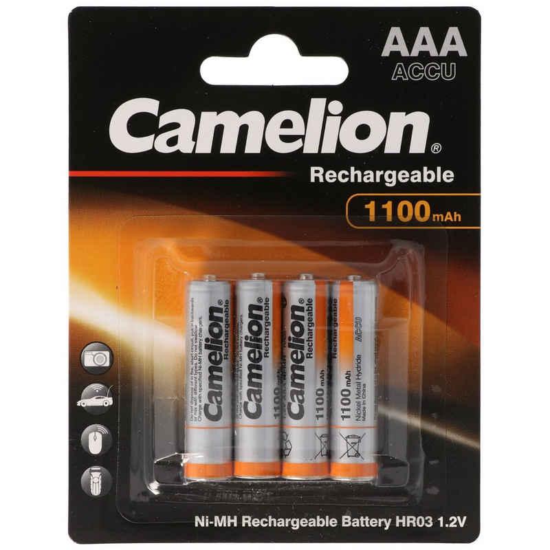 Camelion »AAA, Micro, LR03, HR04, NiMH Akku mit bis zu 1100m« Akku, Geringe Selbstentladung