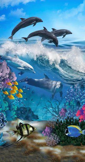 good morning Strandtuch »Andre« (1-St), mit Delfinen