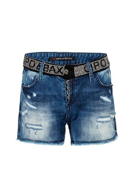 Hosen - Cipo Baxx Shorts mit Pailletten Bund ›  - Onlineshop OTTO