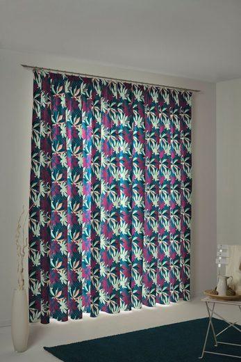 Vorhang »Jungle«, Adam, Kräuselband (1 Stück), nachhaltig