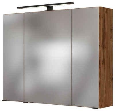HELD MÖBEL Spiegelschrank »Luena« Breite 80 cm, mit 3D-Effekt, dank drei Spiegeltüren
