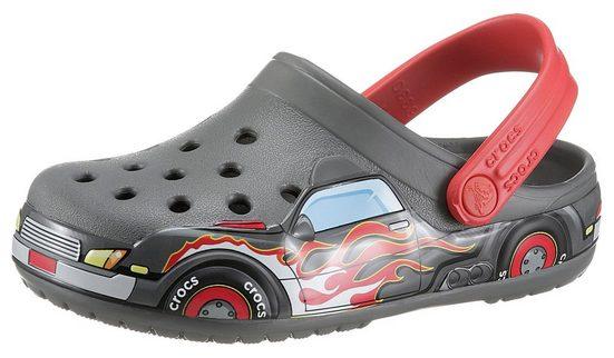 Crocs »Slate Grey FL Truck Band Clog K« Clog mit coolen Flammen-Druck