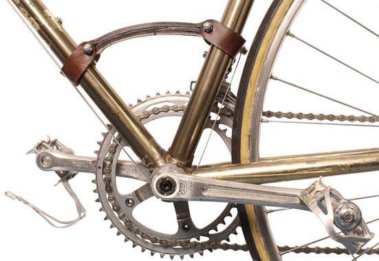 Gusti Leder Fahrradhalter »Gerrie K.« (1-tlg), Fahrradrahmen-Tragegriff Griff Rennrad Transportgriff Stahlrahmen Braun Leder