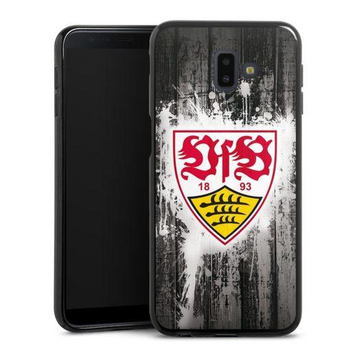 DeinDesign Handyhülle »VfB Stuttgart Splash« Samsung Galaxy J6 Plus Duos (2018), Hülle VfB Stuttgart Offizielles Lizenzprodukt Bundesliga