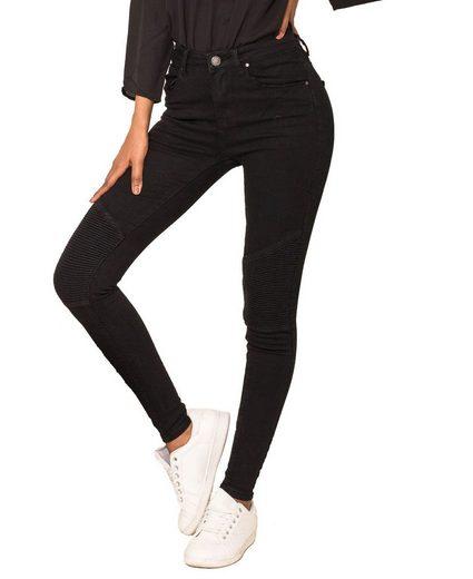 Simply Chic High-waist-Jeans »3054« Damen Biker High Waist Jeans