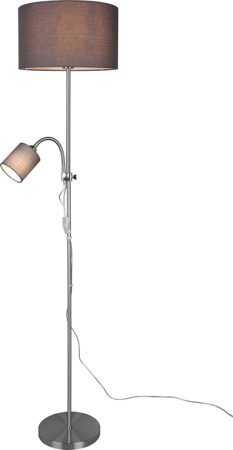 TRIO Leuchten Stehlampe »OWEN«, Getrennt schaltbar, Lesearm flexibel, Höhe 160cm Leuchtmittel frei wählbar (1xE27/1xE14)