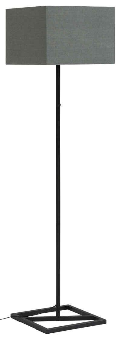 Guido Maria Kretschmer Home&Living Stehlampe »Silwai«, Stehleuchte in quadratischer Form, Materialmix Metall/Textil