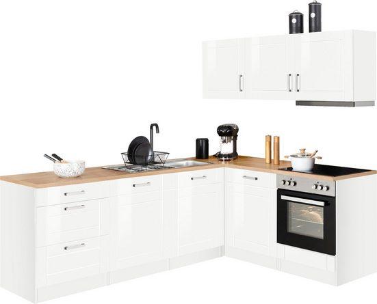HELD MÖBEL Winkelküche »Tinnum«, mit E-Geräten, Stellbreite 240/180 cm