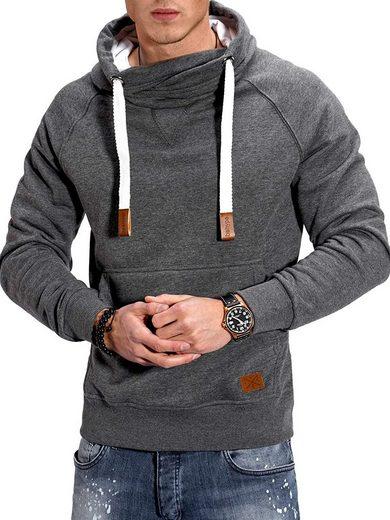 behype Kapuzensweatshirt »JULES« mit hohem Kragen