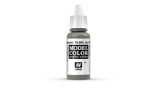 Vallejo Bastelnaturmaterial »Model Color Vallejo 70865 Oily Steel 17ml Metallic Airbrush Farbe«, (1-tlg)