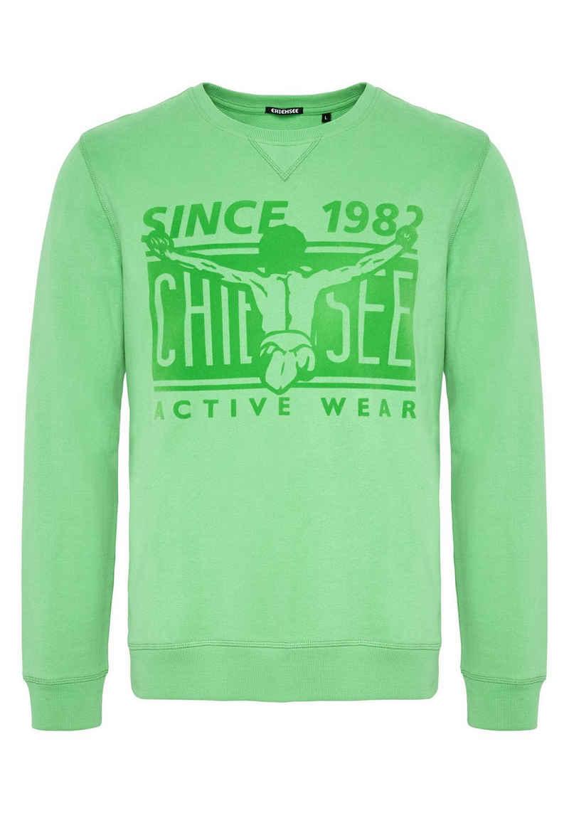 Chiemsee Sweatshirt »mit tonalem Flockprint« (1-tlg)