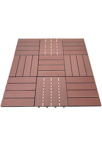 HOME DELUXE Terrassenplatten 30x30 cm 99-St. WPC-F...