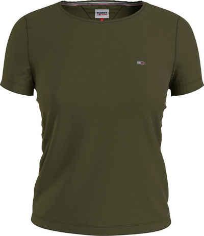 Tommy Jeans Rundhalsshirt »TJW SLIM JERSEY C NECK« mit Tommy Jeans Logo-Flag