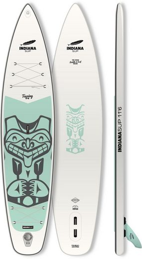 Indiana Paddle & Surf Inflatable SUP-Board »Indiana 11'6 Touring LITE Inflatable«, (5 tlg., mit Pumpe und Transportrucksack)