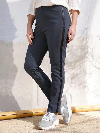 MIAMODA Schlupfhose (1-tlg) mit Satinband seitlich am Bein