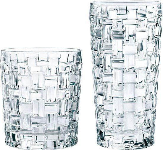 Nachtmann Gläser-Set »Bossa Nova«, Kristallglas, (je 6 Whisky- u. Longdrinkgläser)