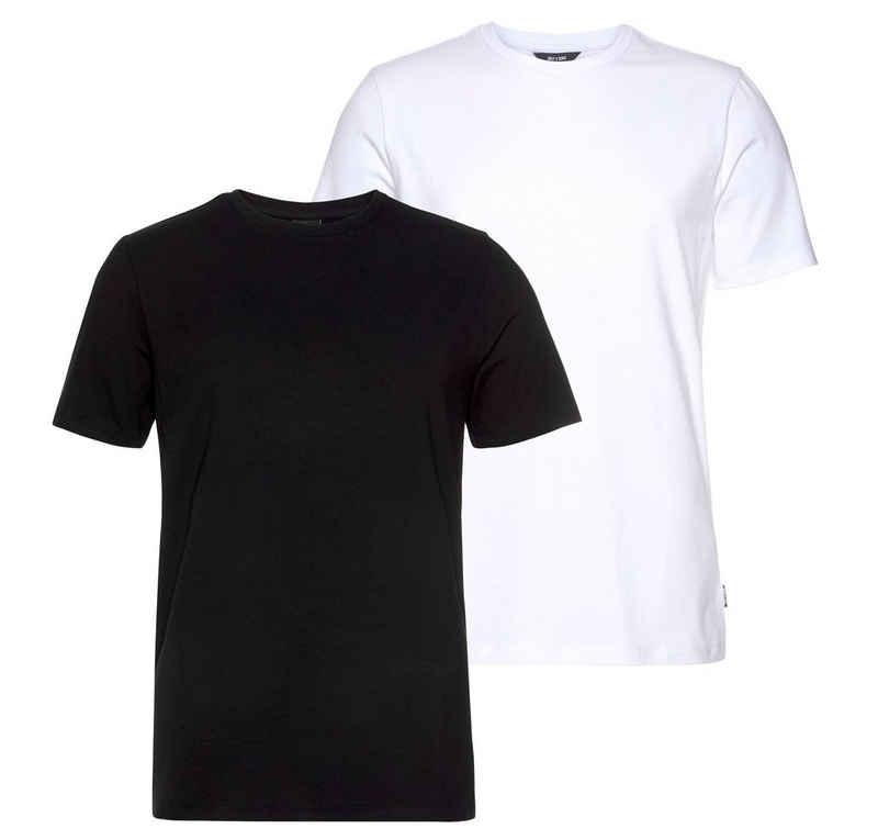 ONLY & SONS T-Shirt »BASIC LIFE SLIM O-NECK 2-PACK« (Packung, 2-tlg., 2er-Pack)