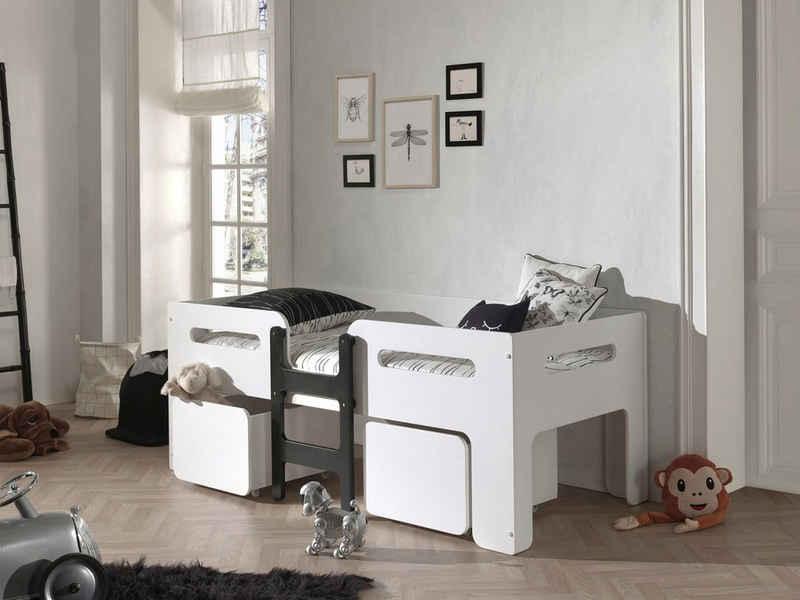 Vipack Einzelbett »Luca«, mit 2 Rollkästen