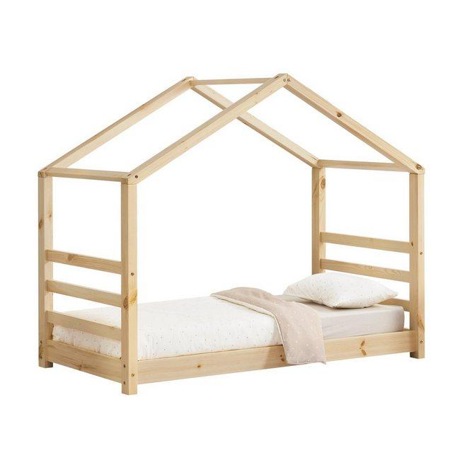 Kinderbetten - en.casa Kinderbett, Kinderbett mit Lattenrost Hausbett Holz 80x160 cm Bettenhaus Bett Jugendbett »  - Onlineshop OTTO