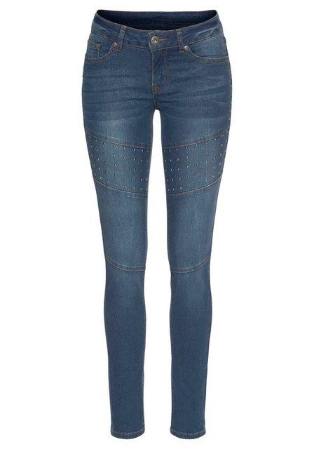 Hosen - Arizona Skinny fit Jeans »im Biker Look« Low Waist › blau  - Onlineshop OTTO