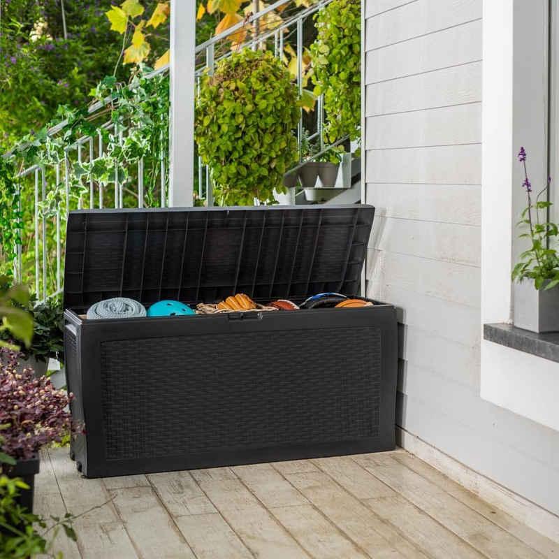 Keter Gartenbox »Keter Gartenbox Auflagenbox Samoa 270 L Anthrazit«
