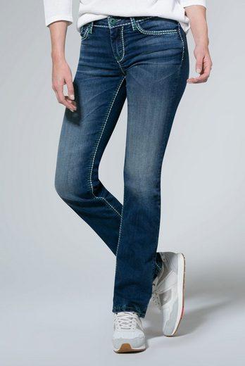 SOCCX Comfort-fit-Jeans mit breiten Nähten