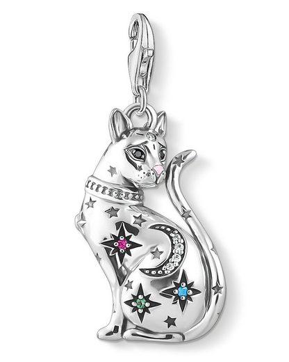 THOMAS SABO Kettenanhänger »Charm- Katze Sternenbild Silber«