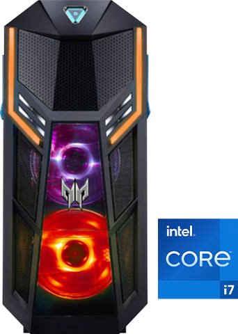 Acer Predator Orion 5000 (PO5-625s) Gaming-PC (Intel® Core i7 11700K, RTX 3070, 32 GB RAM, 3000 GB HDD, 1024 GB SSD, Luftkühlung)